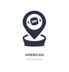 American football placeholder icon on white vector