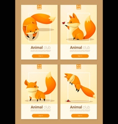 Animal banner with Foxes for web design 2 vector image