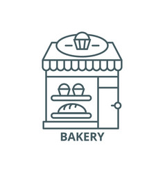 bakery line icon bakery outline sign vector image