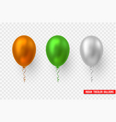 Balloons in traditional tricolor indian flag vector
