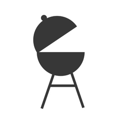 barbecue grill silhouette vector image