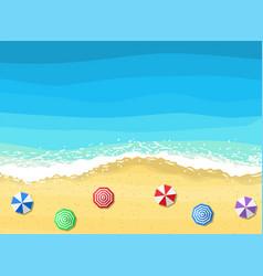 beach sun umbrellas vector image