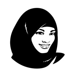 beautiful muslim woman in hijab vector image