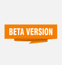 Beta version vector