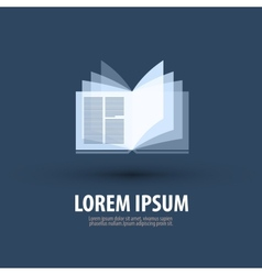 Book Logo icon symbol template emblem vector