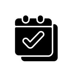Calendar app black glyph icon vector