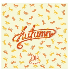 Calligraphy design lettering AUTUMN vector image