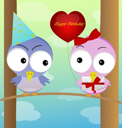 celebration of birds vector image