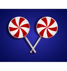 circle lollipop on blue background Eps10 vector image