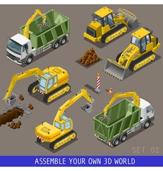 City Construction Transport Isometric Flat 3d Icon vector image