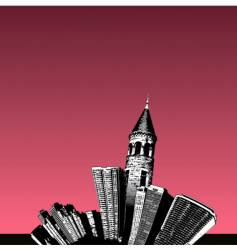 city tower vector image