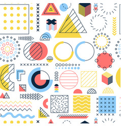 color memphis seamless pattern vector image
