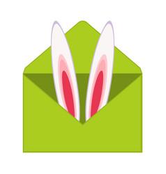 Colorful cartoon bunny ears invitation vector