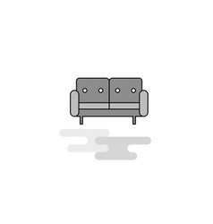 couch web icon flat line filled gray icon vector image
