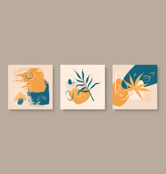 Creative art composition with natural simple hand vector
