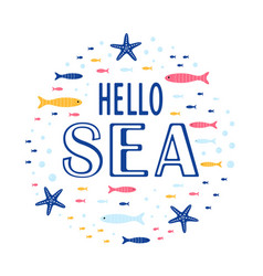 Cute ocean cards vector