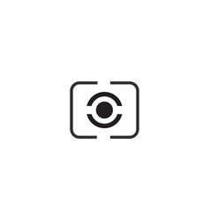 Digital photography camera metering mode icon vector