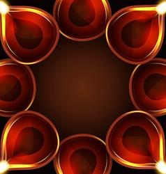 Diwali diya background vector