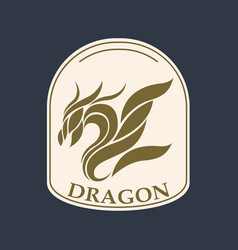 Dragon logo icon design vector