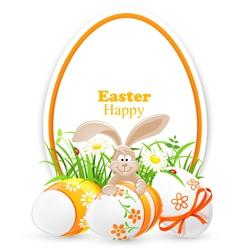 Easter banner vector
