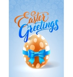 Easter Greetings Card vector