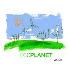 eco concept planet vector image