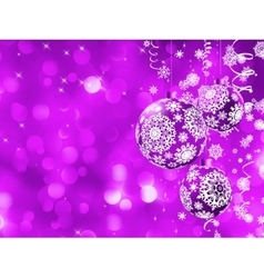 Elegant Christmas card with balls EPS 8 vector image