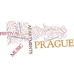 Enjoy music in prague text background word cloud vector