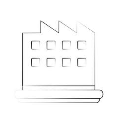 Factory building symbol vector