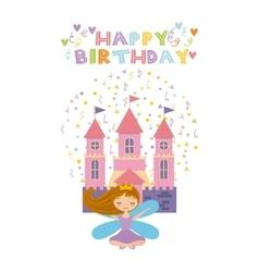 Fairy birthday card vector