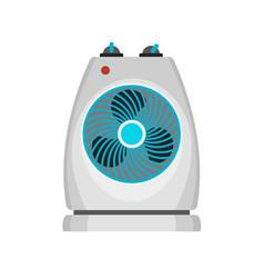 Fan heater icon flat style vector