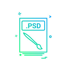 file files psd icon design vector image
