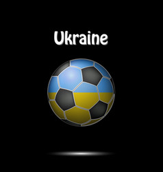 flag of ukraine in the form of a soccer ball vector image