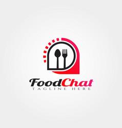 Food forum logo designfood chat icon vector