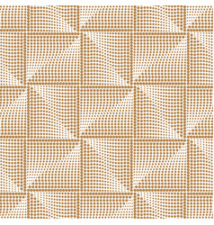 futuristic square gold seamless pattern geometric vector image