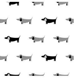German badger-dog silhouette seamless vector