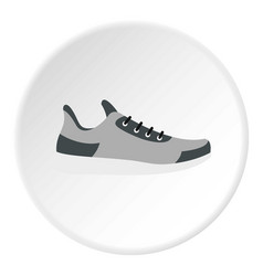 Gray sneaker icon circle vector