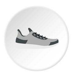 Gray sneaker icon circle vector