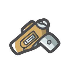 gun holster weapon icon cartoon vector image