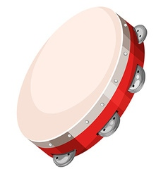 Hand drum on white background vector