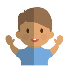Happy boy icon vector