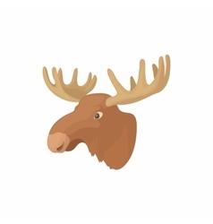 Head of elk icon cartoon style vector image