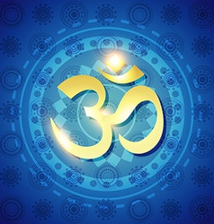 Hindu om text vector