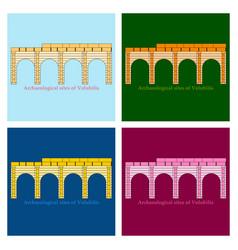 Historical landmark of volubilis city in morocco vector