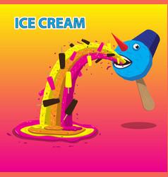 ice cream snowman burps ice cream image vector image