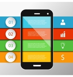 Infographics mobile phone data vector image