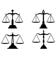 Justice scales silhouette vector
