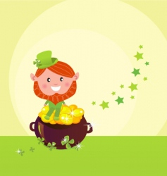 leprechaun happy vector image