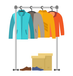 Male clothes and shoes vector