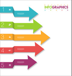 modern infographic colorful design template 4 vector image